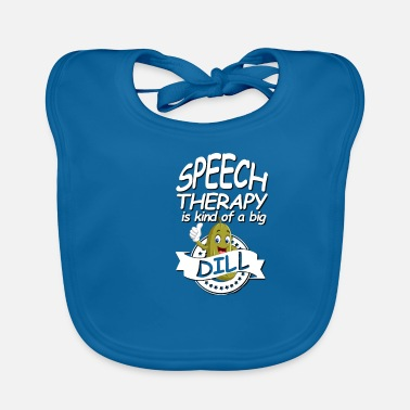 Funny speech therapy design with dill cucumber - Baby Bib