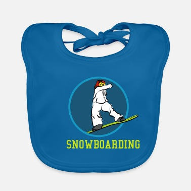 Boarders Nice Snowboard ride drawing gift gift ideas - Baby Bib