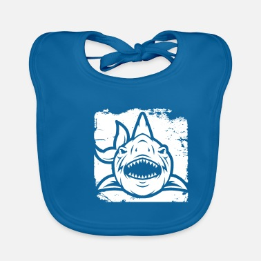Monster Funny Megalodon Shark T-shirt - Baby Bib