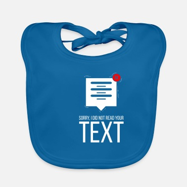Text Message Sorry | Unread | 1K Messages | Inbox | text - Baby Bib