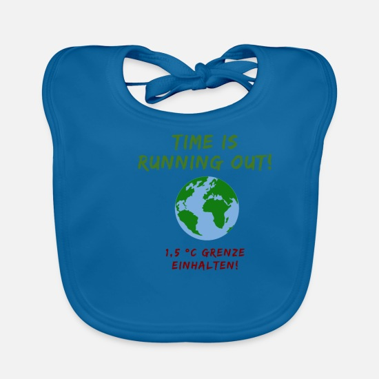 Activist Baby Clothes - Climate Change Time Climate Protection Earth - Baby Bib peacock-blue