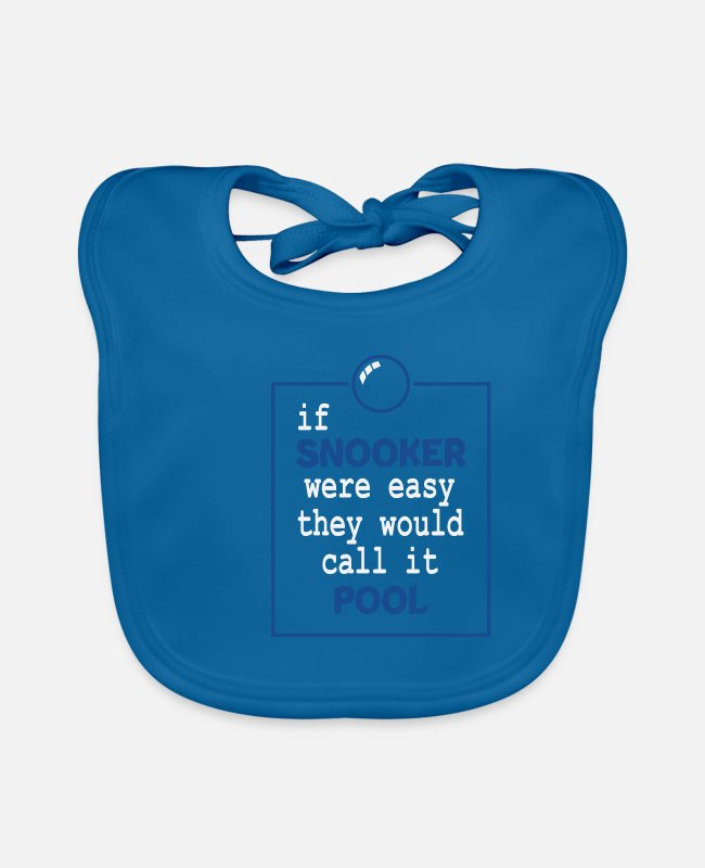 Hipster Baby Bibs - Snooker saying funny 147 maximum gift - Baby Bib peacock-blue