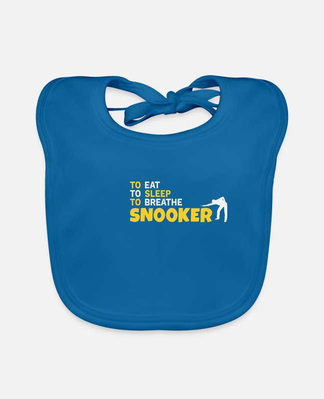 Frame Baby Bibs - Snooker 147 Maximum Level Repeat Gift - Baby Bib peacock-blue