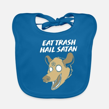 Trash Can Trash can opossum possum - Baby Bib