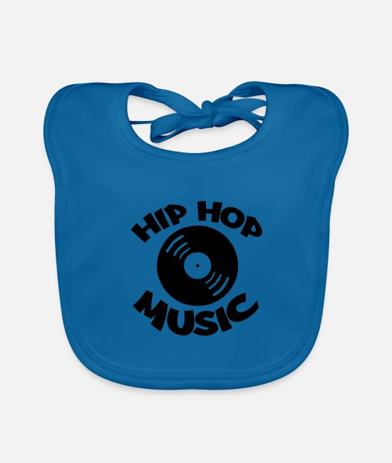 Rap Baby Bibs - hip hop music 001 - Baby Bib peacock-blue
