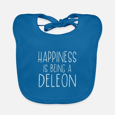 Csv Happiness Is Deleon Last Name Surname Pride - Baby Bib