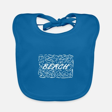 Beach Beach and a beach as lettering - Baby Bib