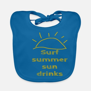 Stylish Surf Summer Sun drinks - summer - Baby Bib