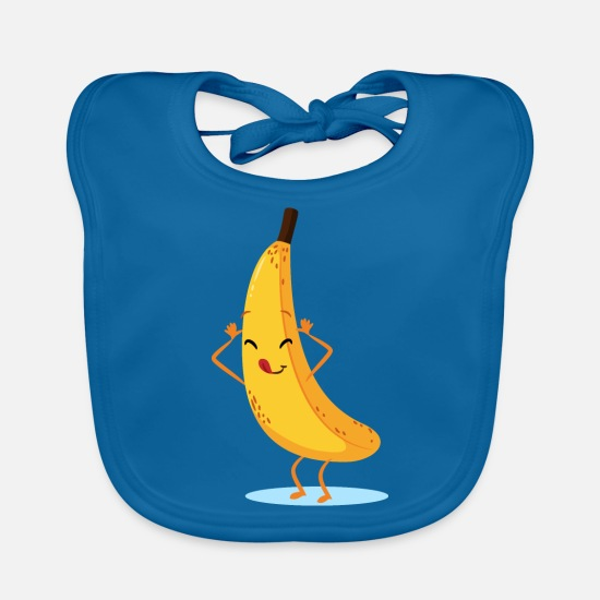 Enviromental Baby Clothes - Naughty banana - Baby Bib peacock-blue