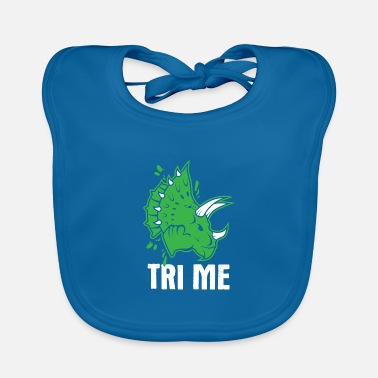 Bone Awesome Dinosaur Design Quote Tri Me Dino - Baby Bib
