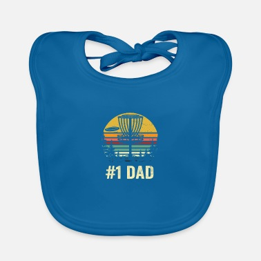 Golf # 1 Dad Disc Golf Shirt - Nummer Eins Dad Frisbee Go - Lätzchen