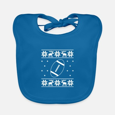 Advent Ugly Football Sweater - Christmas - Baby Bib