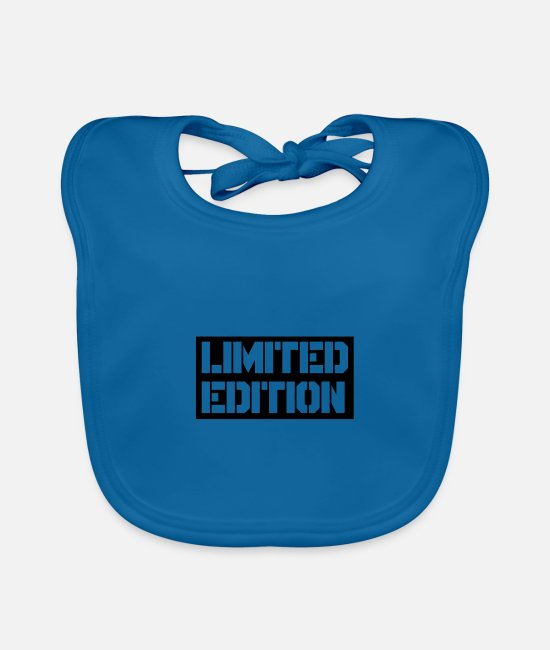 Quote Baby Bibs - limited edition - Baby Bib peacock-blue
