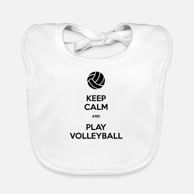 Keep Calm And Play Volleyball - Baby Bib