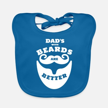 Barba DAD with Beard's is Better Daddy Father's Day Beard - Bavaglino ecologico per neonato