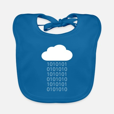 Geek Cloud Data Rain Binary - Baby Bib