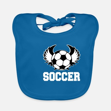 Gate Soccer football rugby goal player gift idea - Baby Bib