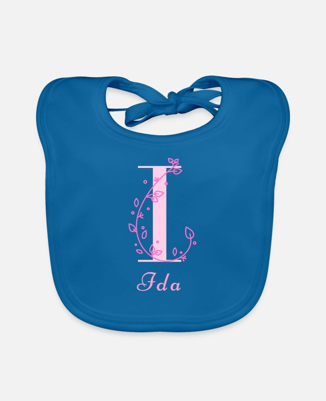 Ida Birth Baby Bibs - Ida Baby Shower Name Day Maiden Name Girl Name - Baby Bib peacock-blue