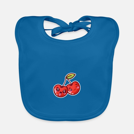 Gift Idea Baby Clothes - Sour cherry - Baby Bib peacock-blue