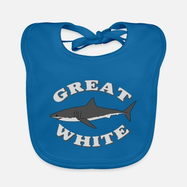White Great white shark - Baby Bib