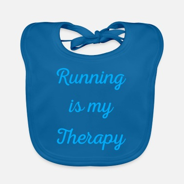 Triathlon Running is my therapy saying gift - Baby Bib