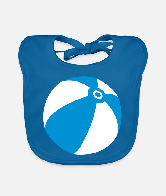 Water Baby Bibs - Beach ball water ball - Baby Bib peacock-blue