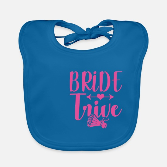 Bride Baby Clothes - Team bride - Baby Bib peacock-blue