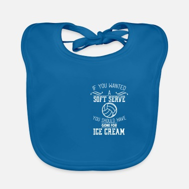 Net Volleyball Shirt Ball Sport Gift · Ice - Baby Bib