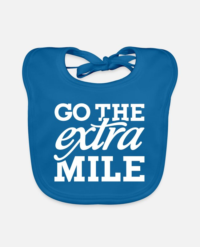 Runner Baby Bibs - Go the extra mile - Baby Bib peacock-blue