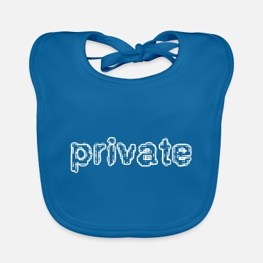 Privateer private - Baby Bib
