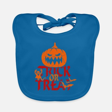 Trick Or Treat Trick or Treat at Halloween - trick or treat - Baby Bib