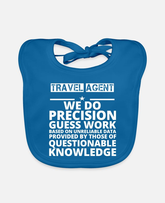 Travel Bug Baby Bibs - poison problem job precision TRAVEL AGENT - Baby Bib peacock-blue