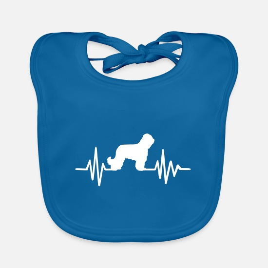 Race Baby Clothes - Briard - Baby Bib peacock-blue