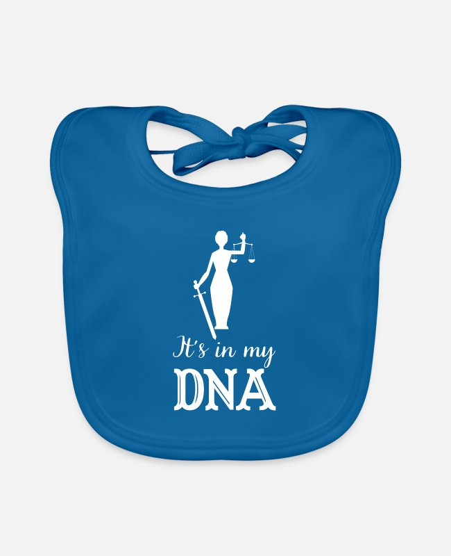 Occupation Baby Bibs - It's in my DNA judge justice gift - Baby Bib peacock-blue