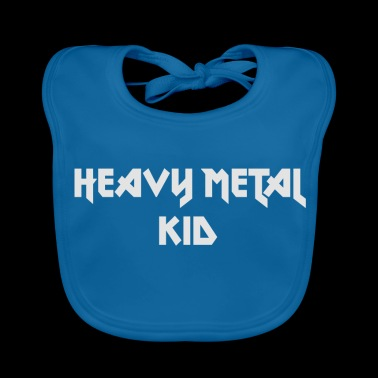 heavy metal kid - Baby Organic Bib