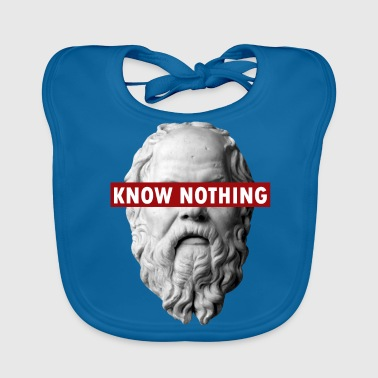KNOW NOTHING SOCRATES - Baby Organic Bib
