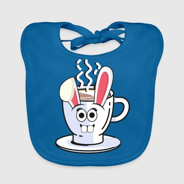 Shop cappuccino baby bibs online spreadshirt coffee cappuccino easter bunny easter gift bunny baby organic bib negle Choice Image