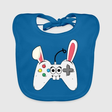 Gamer Gaming Console Easter Bunny Easter Gift - Baby Organic Bib