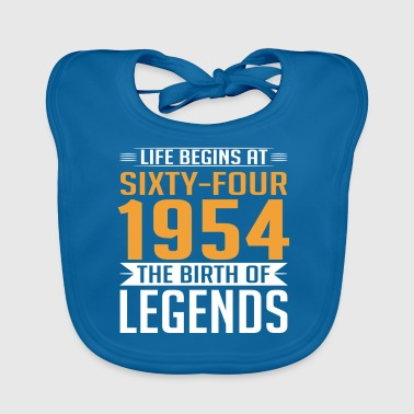 1954 64 64th birthday years Legends gift - Baby Organic Bib