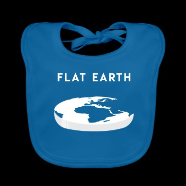 Flat Earth gift for Flat Earthers - Baby Organic Bib