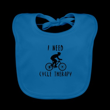 Cycle Therapy Psychology Bicycle Gift Idea - Baby Organic Bib