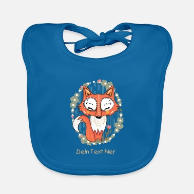 a small fox in the forest  - Baby Organic Bib