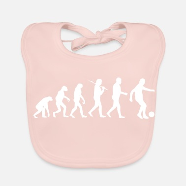 Soccer Fan Soccer Fan Soccer Soccer Ball Evolution - Baby Organic Bib