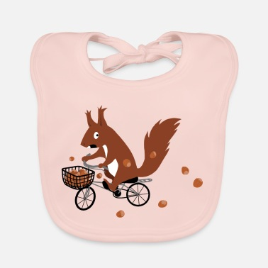 Bicycle Eichhoernchen drives a bicycle - Baby Bib