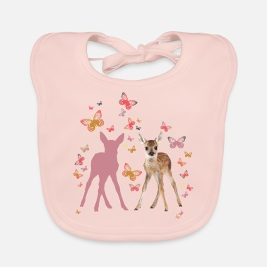 Officialbrands Animal Planet Fawn And Butterflies - Baby Organic Bib