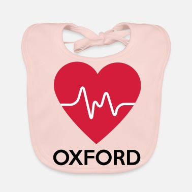 Oxford heart Oxford - Baby Organic Bib