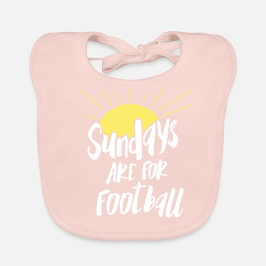 Football Sunday is football! Footballer football match - Baby Bib