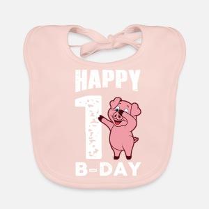 1 Piggy Ans Joyeux Anniversaire Body Manches Longues Bebe