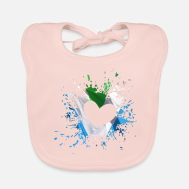 Vegan I Love Vegan - I Love, Vegan Heart - Baby Bib