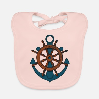 Rudder Anchor Rudder ship rudder - Baby Organic Bib